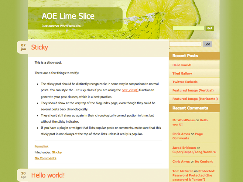 LIME SLICE-THEME WORDPRESS FREE FOR NATURAL