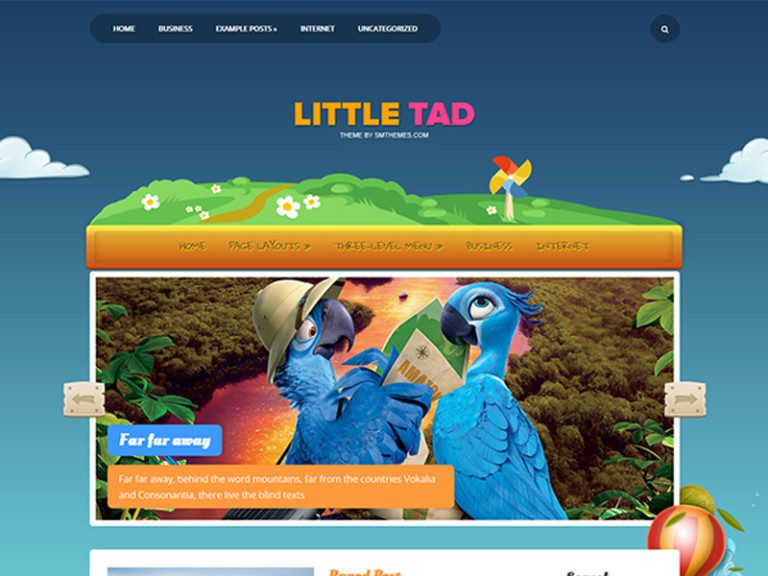 LITTLETAD FREE WORDPRESS THEME FOR CARTOONS