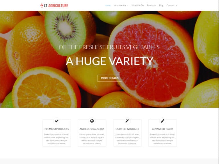 LT AGRICULTURE FREE RESPONSIVE FRUITS WORDPRESS THEME