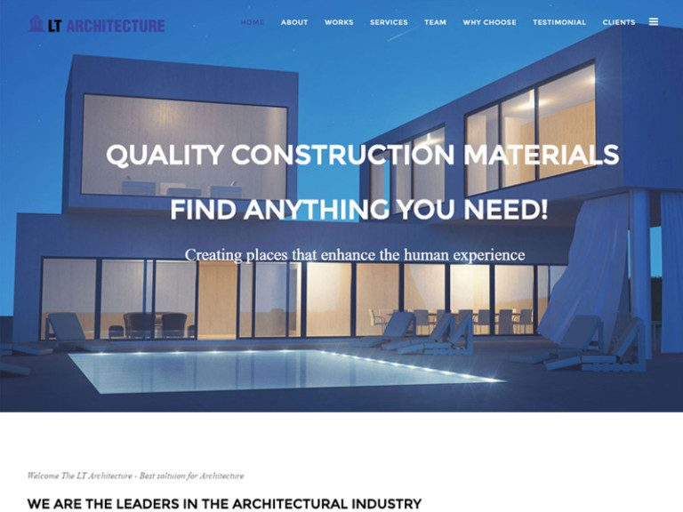 LT ARCHITECTURE ONEPAGE FREE JOOMLA TEMPLATE FOR ARCHITECTURE