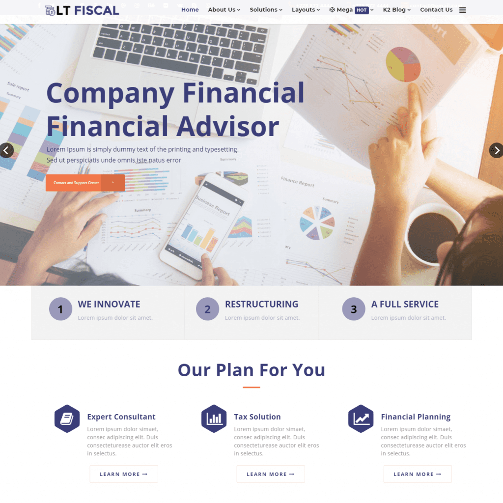 LT FISCAL FREE JOOMLA FINANCE TEMPLATE