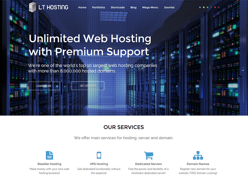 LT HOSTING ONE PAGE JOOMLA TEMPLATE