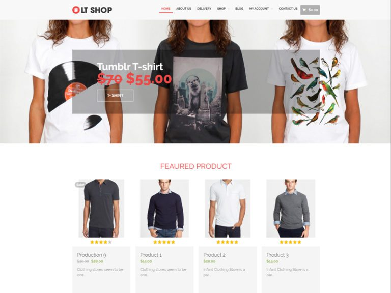 LT SHOP FREE RESPONSIVE ONLINE STORE WORDPRESS THEME