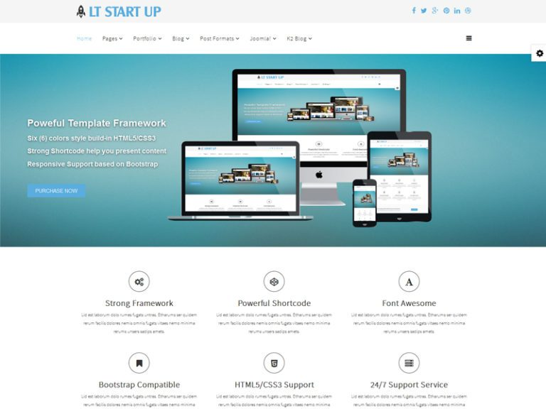 LT START UP FREE RESPONSIVE BUSINESS START UP JOOMLA TEMPLATE