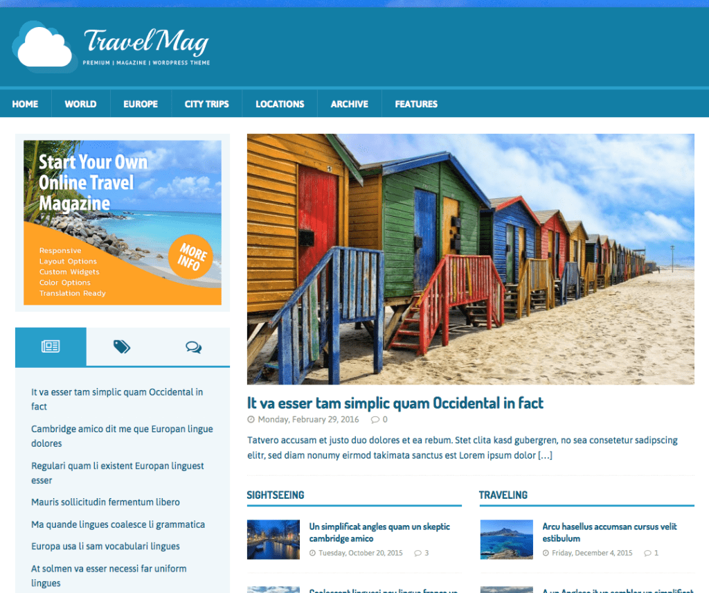 MH TRAVELMAG FREE HOLIDAY WORDPRESS THEME