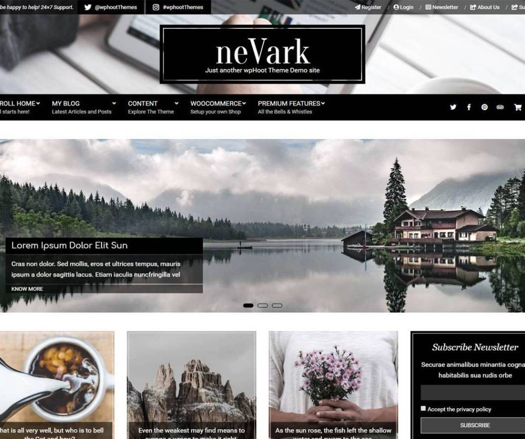 NEVARK FREE PHOTOGRAPHY WORDPRESS THEME