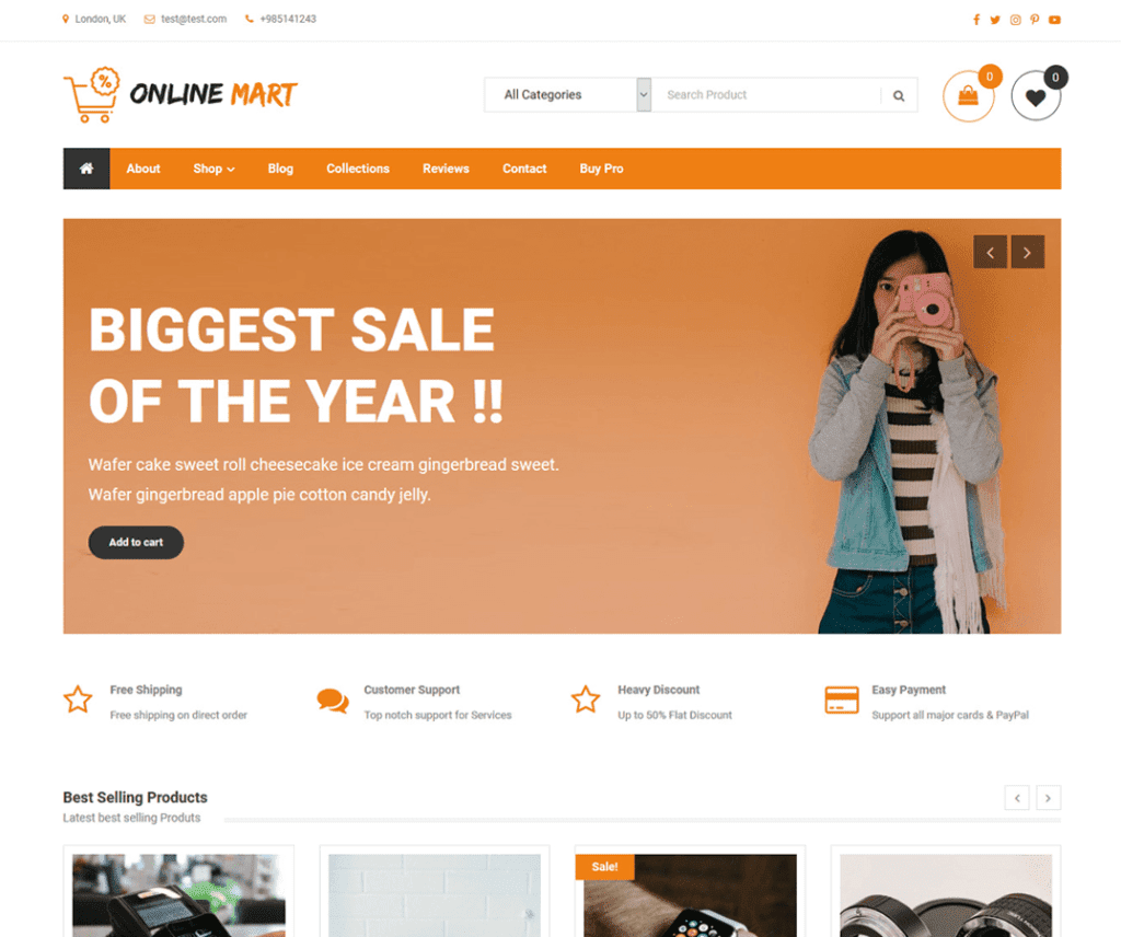 ONLINE MART FREE WORDPRESS ENTERTAINMENT THEME