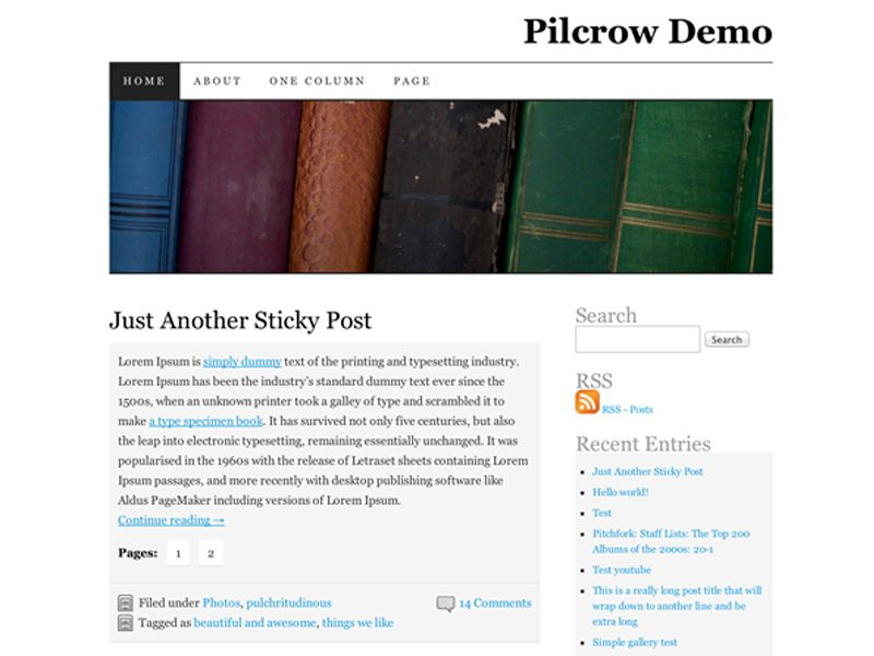 PILCROW DOWNLOAD BEST FREE WORDPRESS THEME