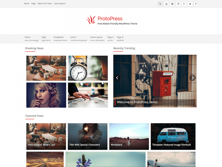 PROTOPRESS FREE HOLIDAY WORDPRESS THEME