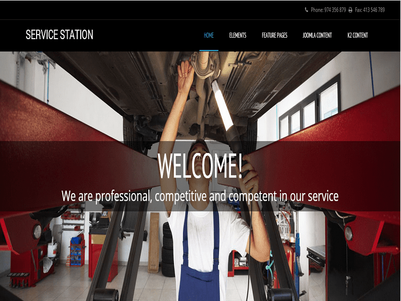 SERVICE STATION – FREE JOOMLA TEMPLATE FOR REPAIRING CAR