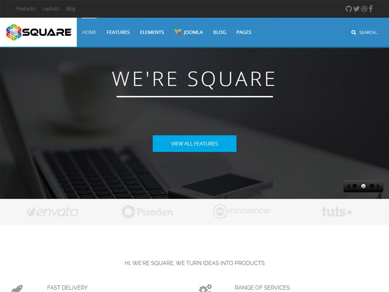 SQUARE BUSINESS FREE JOOMLA TEMPLATE