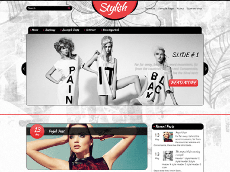 STYLISH-FREE WORDPRESS THEME FASHION