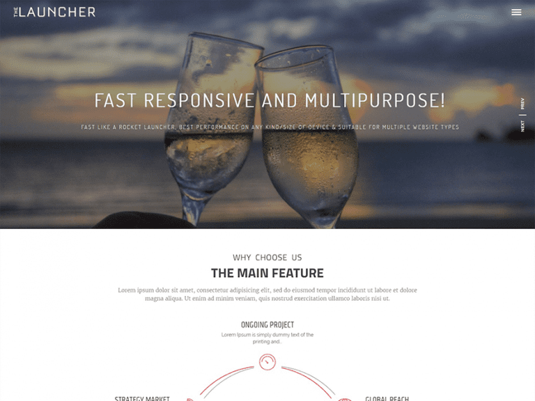 THE LAUNCHER FREE HOLIDAY WORDPRESS THEME