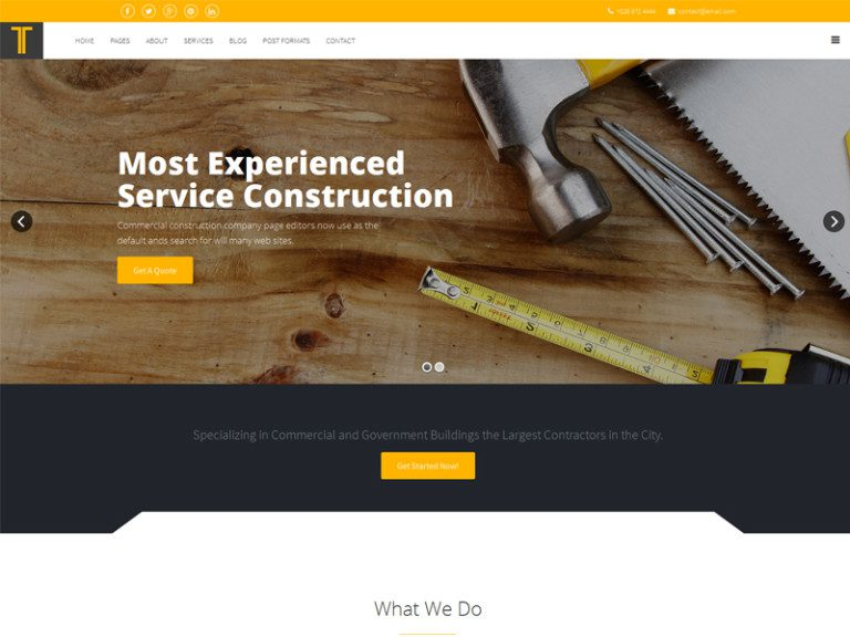 TIXO FREE JOOMLA TEMPLATE FOR CONSTRUCTION