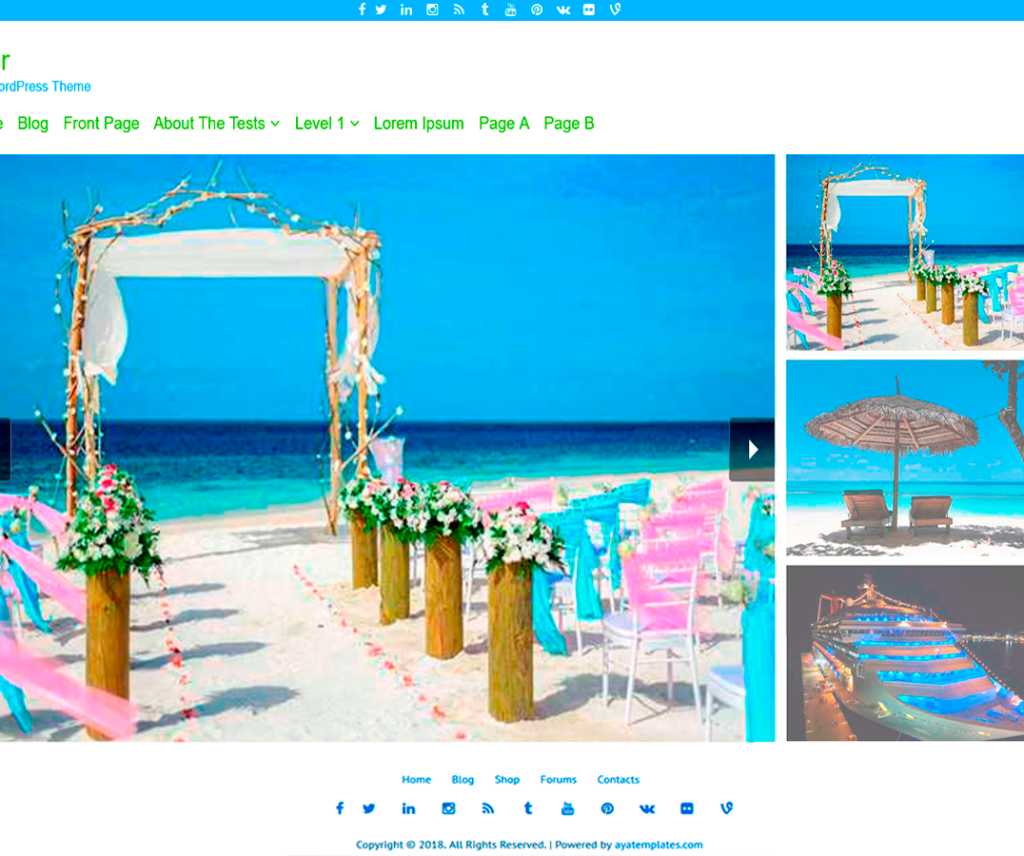 TOUR FREE HOLIDAY WORDPRESS THEME