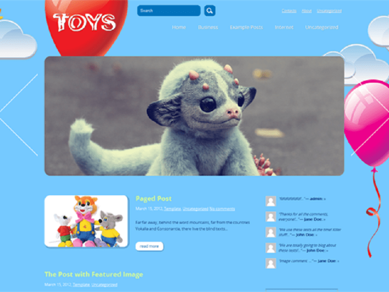 TOYS-FREE THEME WORDPRESS FOR CHILD