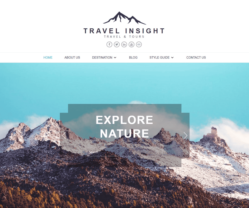 TRAVEL INSIGHT FREE HOLIDAY WORDPRESS THEME