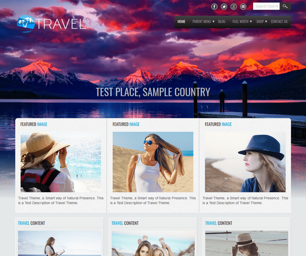 TRAVEL LITE FREE HOLIDAY WORDPRESS THEME