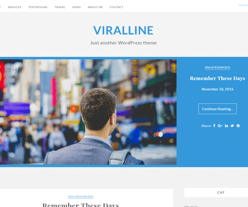 VIRALLINE FREE FASHION WORDPRESS THEME
