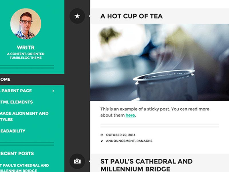 WRITR FREE WORDPRESS THEME FOR BLOG