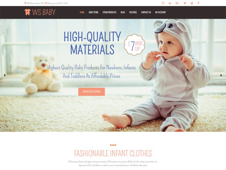 WS BABY FREE WORDPRESS WOOCOMMERCE THEME FOR BABY STORE