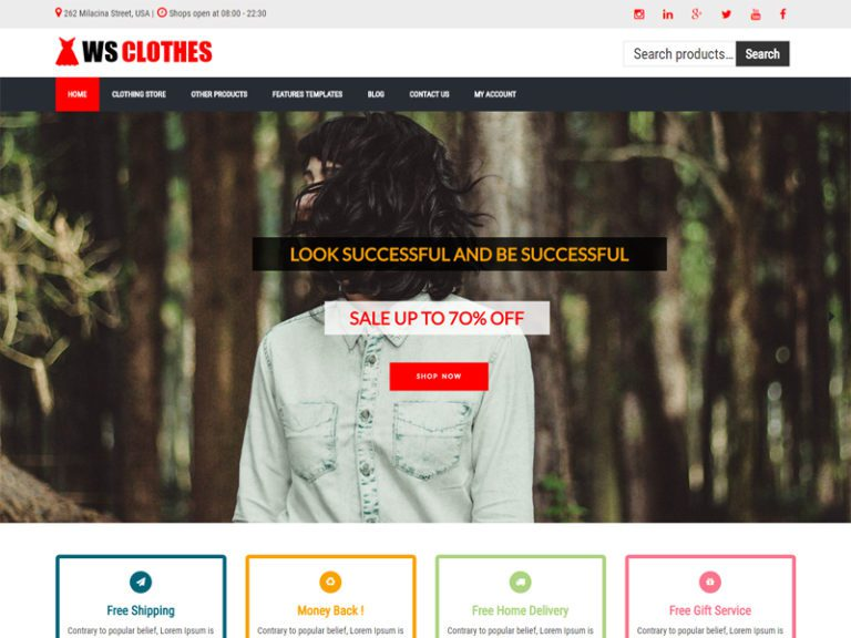 WS CLOTHES FREE WORDPRESS WOOCOMMERCE THEME FOR FASHION