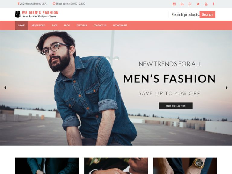 WS MEN'S FASHION FREE WORDPRESS WOOCOMMERCE THEME FOR FASHION STORE