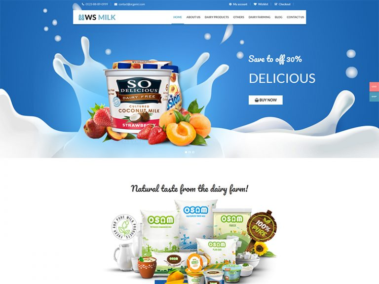 WS MILK FREE RESPONSIVE DAIRY WOOCOMMERCE WORDPRESS THEME