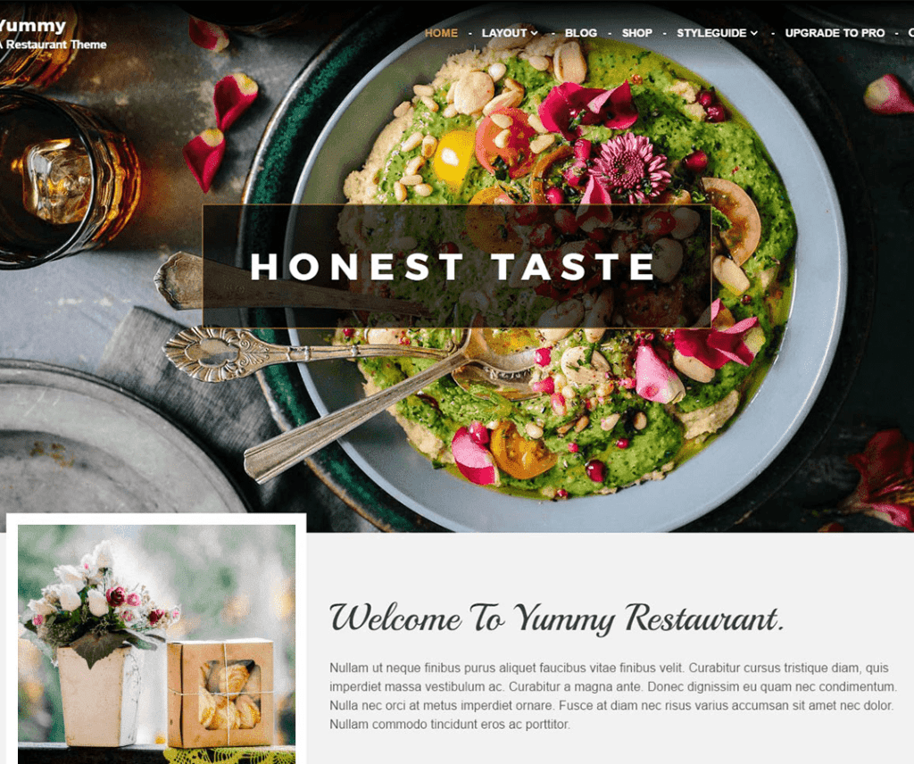 YUMMY FREE HOLIDAY WORDPRESS THEME