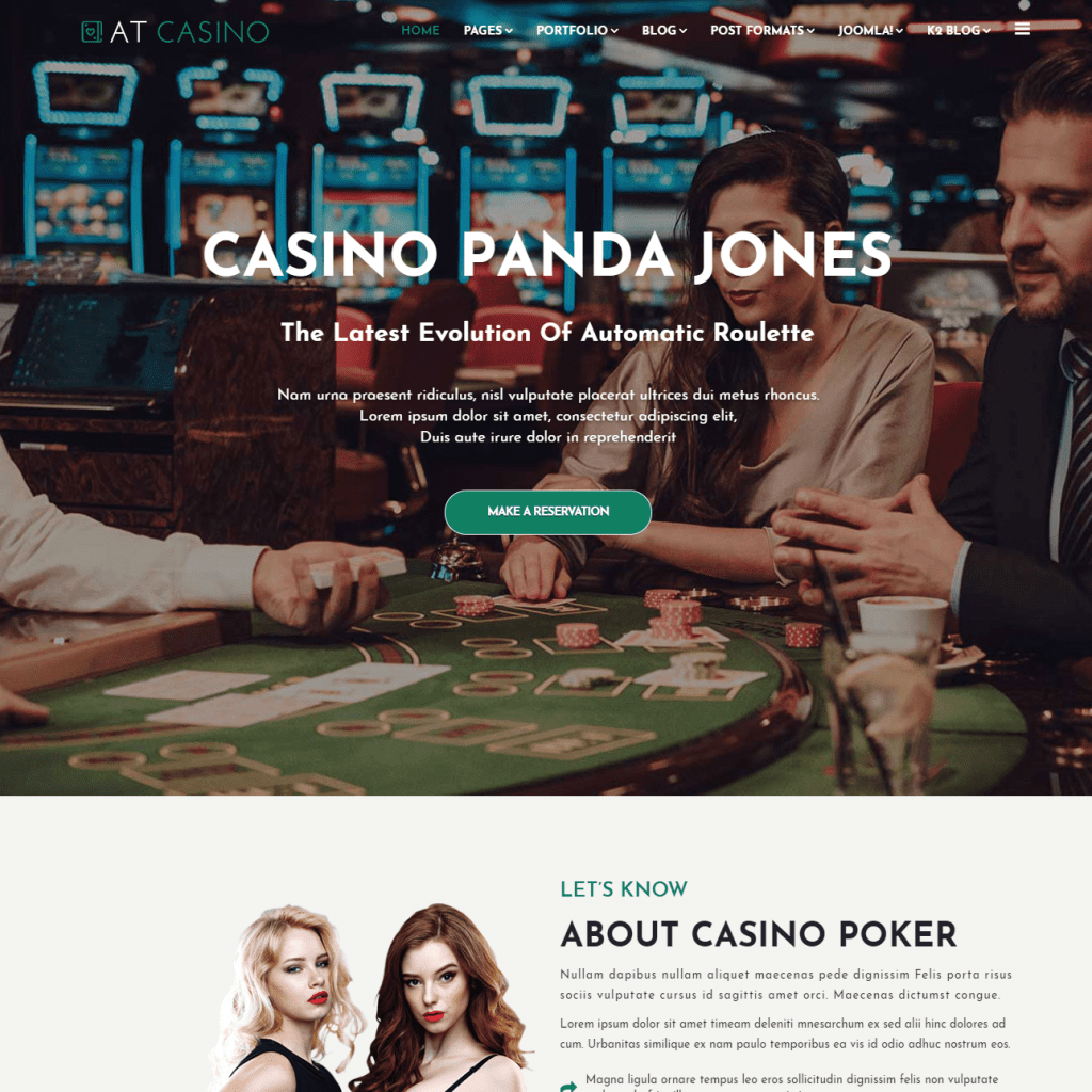 AT CASINO FREE JOOMLA CASINO TEMPLATE