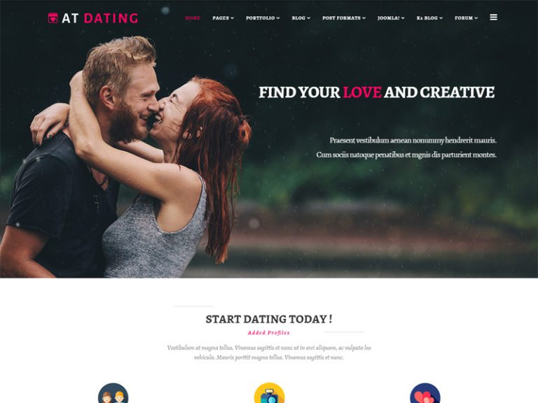 AT DATING FREE JOOMLA DATING TEMPLATE