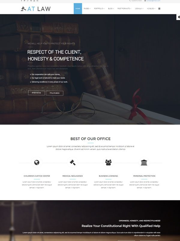 AT LAW – FREE LAW JOOMLA TEMPLATE