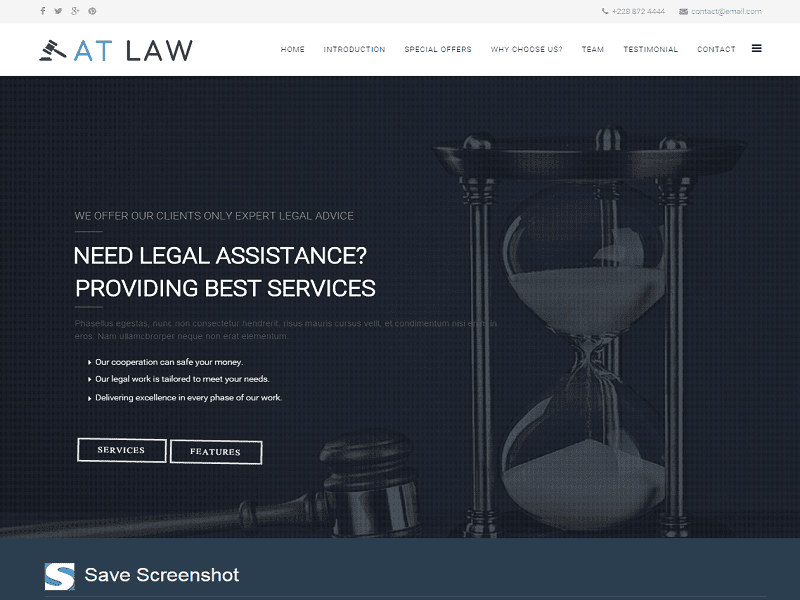 AT LAW ONEPAGE – FREE LAW JOOMLA TEMPLATE