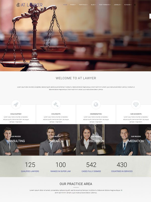 AT LAWYER FREE LAW FIRM JOOMLA TEMPLATE