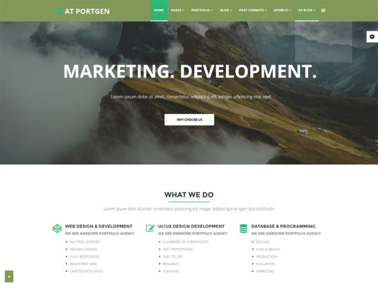 AT PORTGEN FREE JOOMLA CREATIVE BUSINESS TEMPLATE