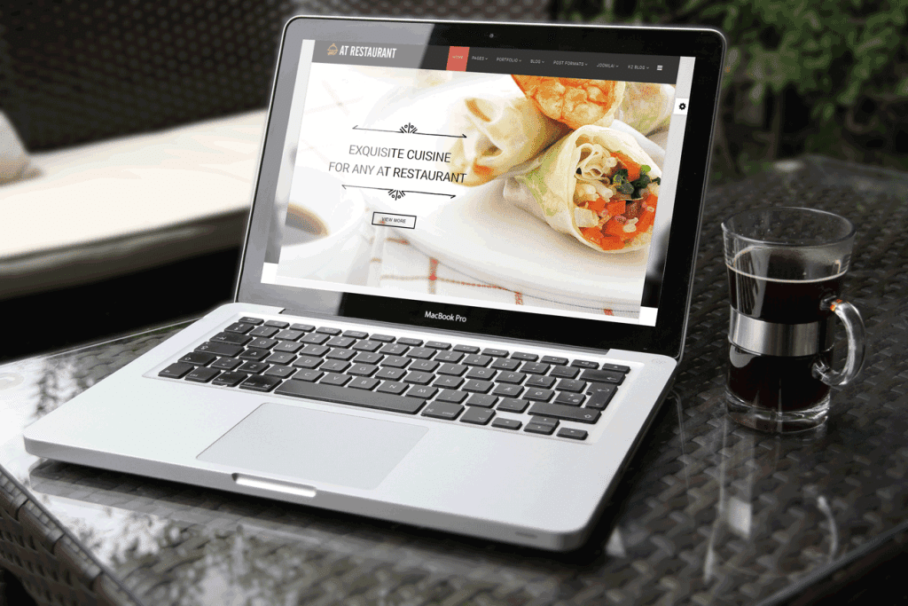 AT RESTAURANT – FREE FOOD ORDER , RESTAURANT JOOMLA TEMPLATE
