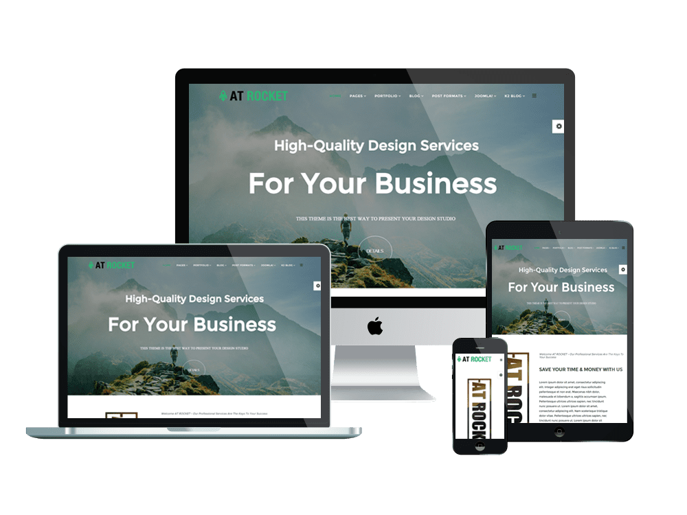 AT ROCKET FREE CREATIVE JOOMLA TEMPLATE