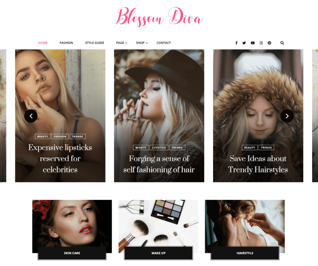 BLOOM DIVA FREE PHOTOGRAPHY WORDPRESS THEME
