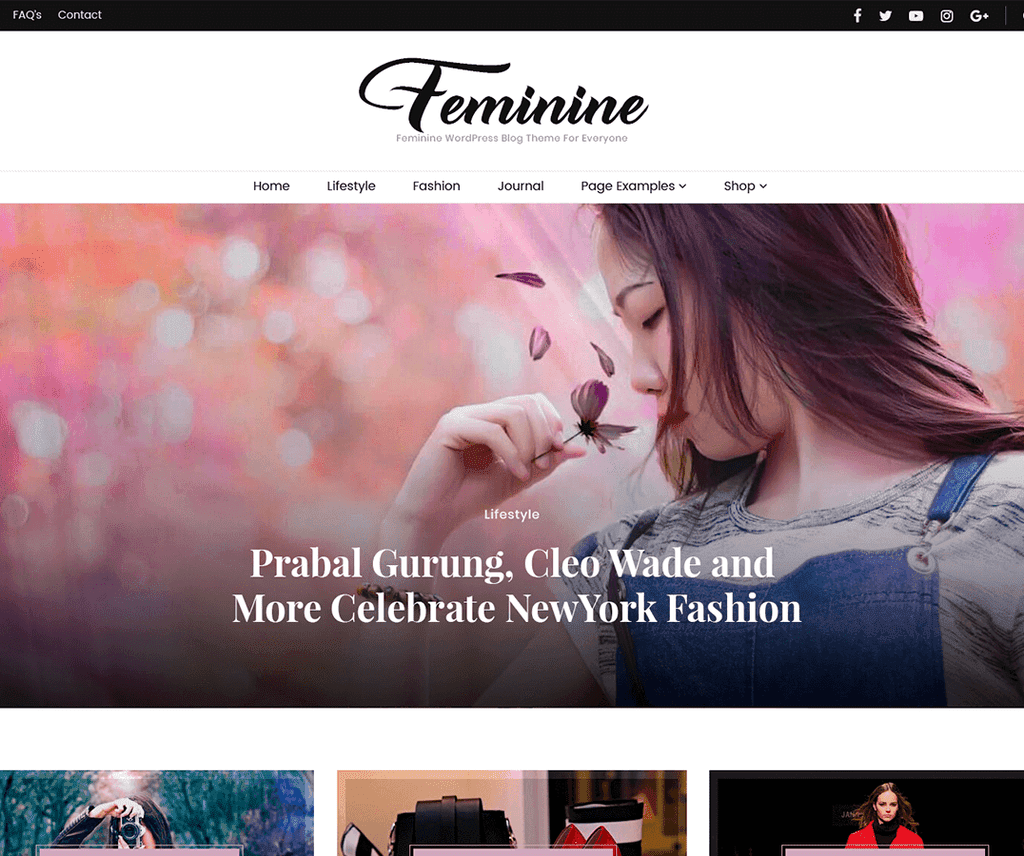 BLOSSOM FEMININE FREE PHOTOGRAPHY WORDPRESS THEME