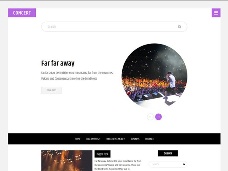 CONCERT FREE WORDPRESS THEME FOR MUSIC