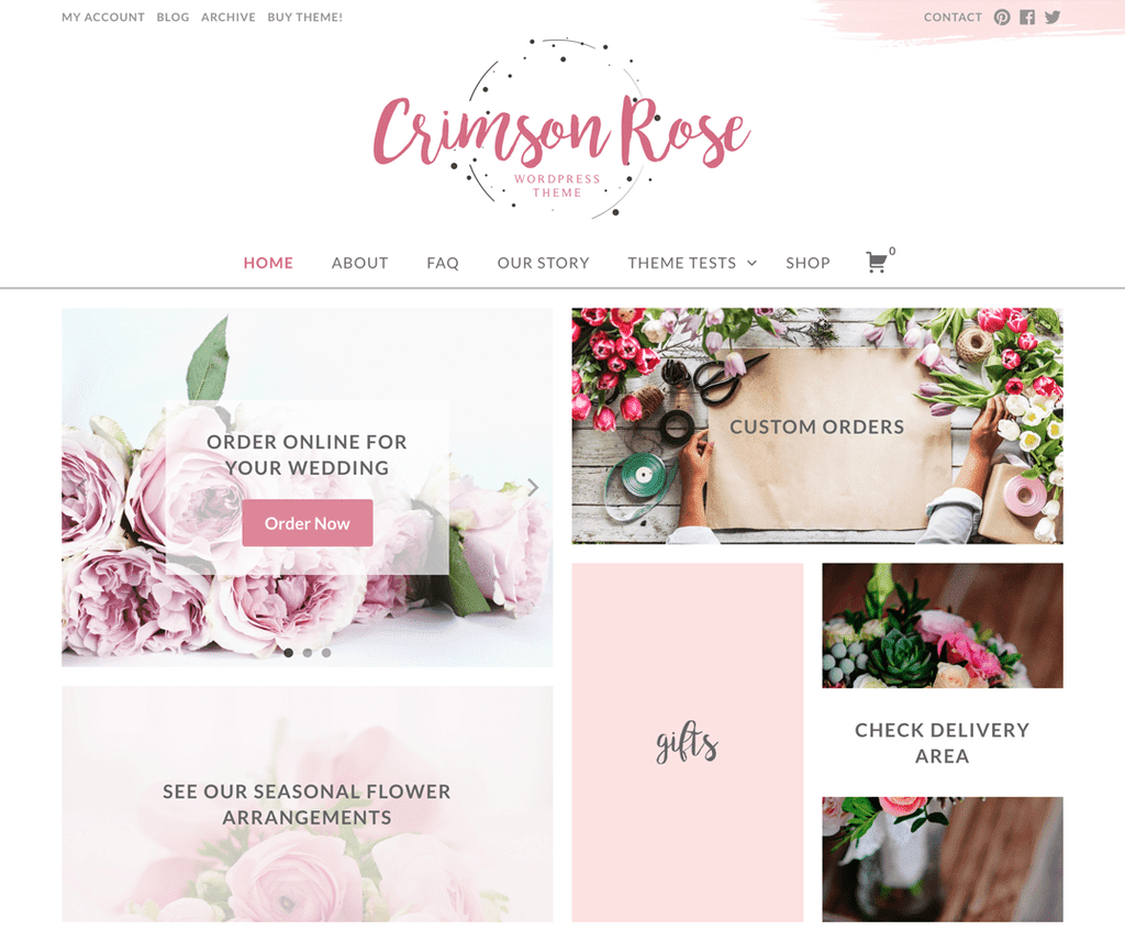 CRIMSON ROSE FREE PHOTOGRAPHY WORDPRESS THEME