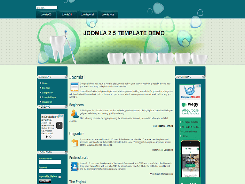 DENTAL CARE – JOOMLA TEMPLATE DENTIST