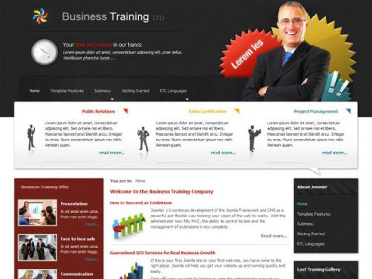 DJ BUSINESS006 FREE JOOMLA BUSINESS TEMPLATE