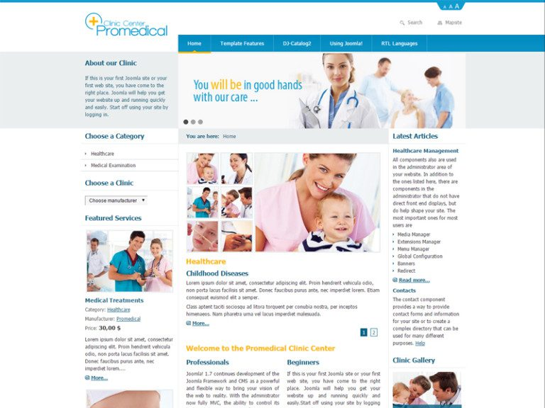 DJ PROMEDICAL FREE MEDICAL CLINIC JOOMLA TEMPLATE