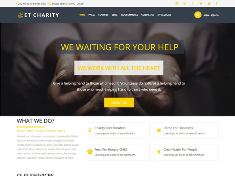 ET CHARITY FREE RESPONSIVE CHARITY WORDPRESS THEME