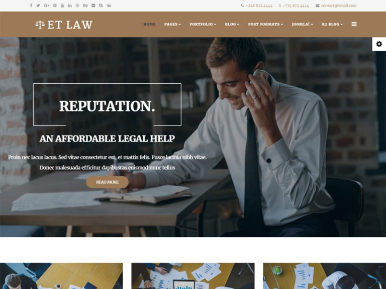 ET LAW FREE JOOMLA LAW TEMPLATE