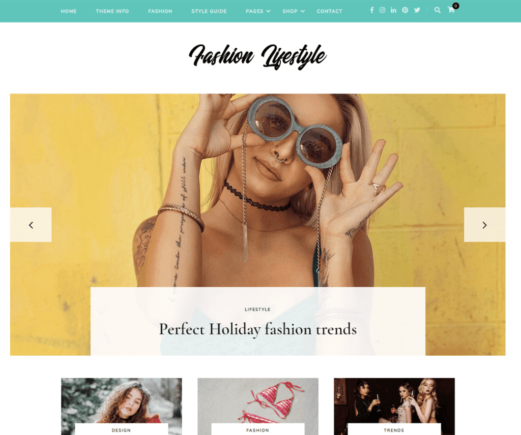 FASHION LIFESTYLE FREE PHOTOGRAPHY WORDPRESS THEME