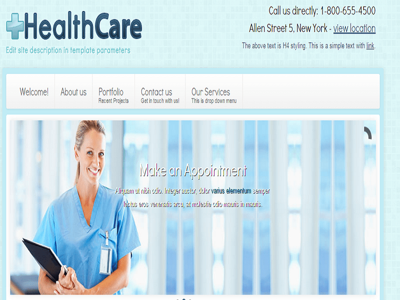 HEALTHCARE PROFESSIONAL JOOMLA 2.5 TEMPLATE