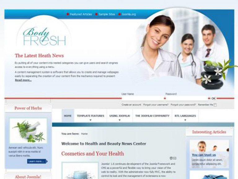 JM MEDICINE FREE JOOMLA HERBAL TEMPLATE