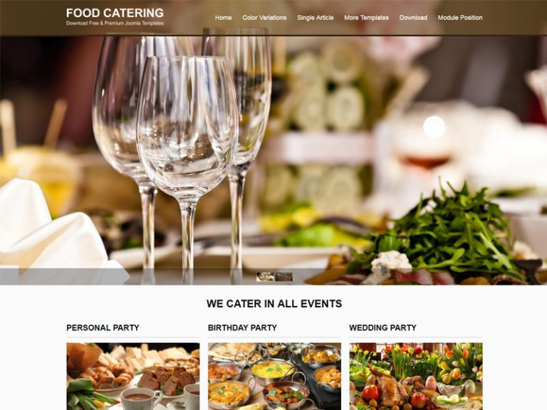 JSR FOOD CATERING FREE JOOMLA TEMPLATE FOR FOOD